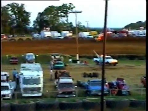 Spoon River Speedway Canton Illinois 1998 Bill Waite Jr 3JR 410 Wing Sprint Car Race