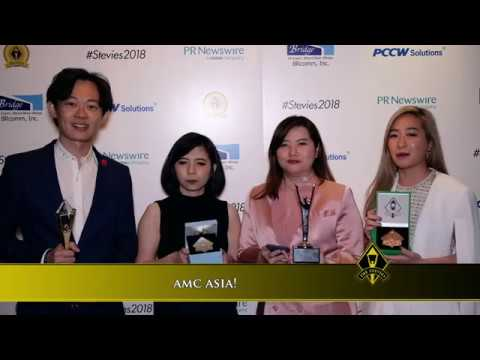 amc asia! wins in the 2018 Asia-Pacific Stevie® Awards