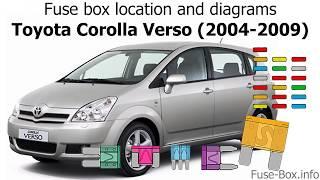 fuse box location and diagrams: toyota corolla verso (2004-2009) - youtube  youtube