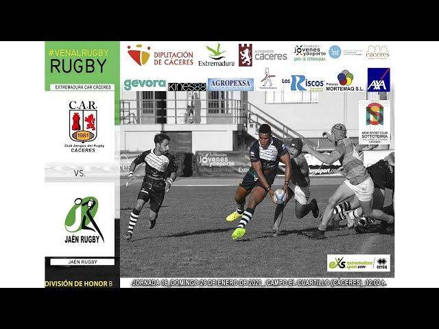 Extremadura CAR Cáceres - Jaén Rugby (División de Honor B 19/20)