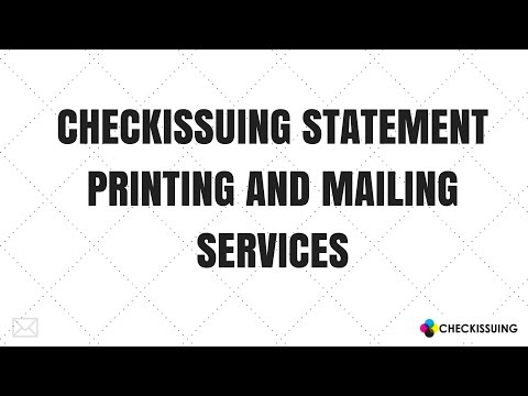 Check Statement Printing and Mailing Services