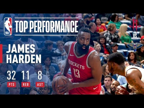 James Harden Flirts With a Triple Double in a Victory Over New Orleans!