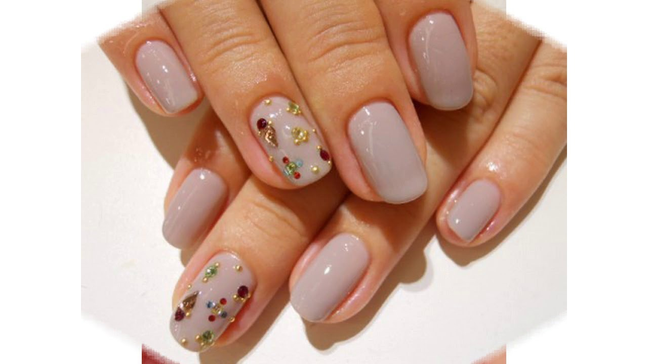 Tendencia De Las Uñas Decoradas Con Gelish De Colores Youtube