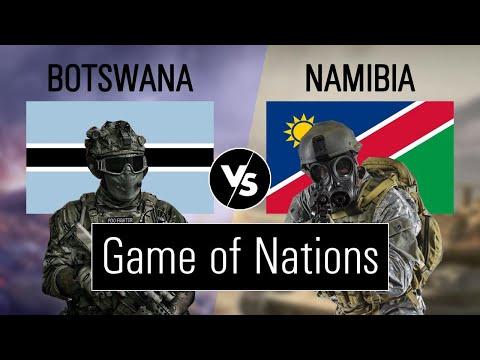 Botswana vs Namibia military power comparison