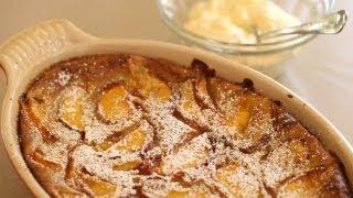 Peach & Thyme Clafouti Recipe || Kin Eats
