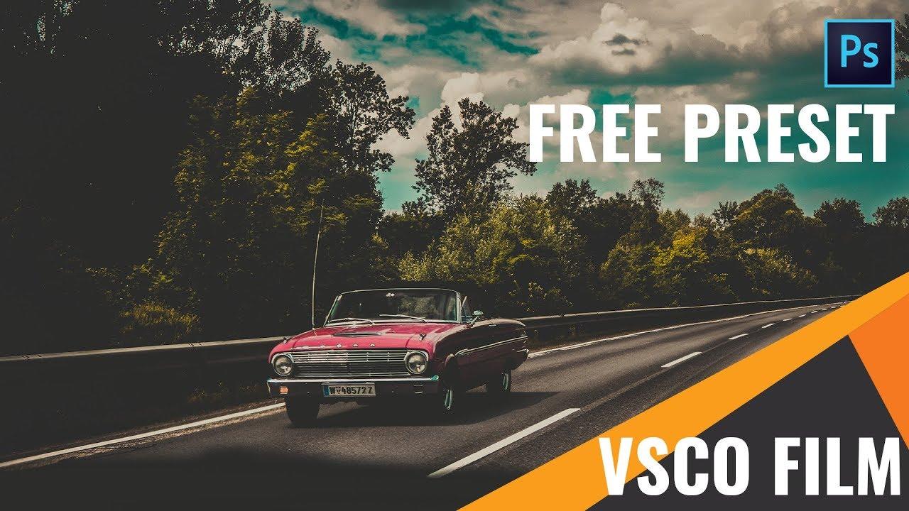 Photoshop Tutorial : VSCO Film Effect Free Camera Raw Preset