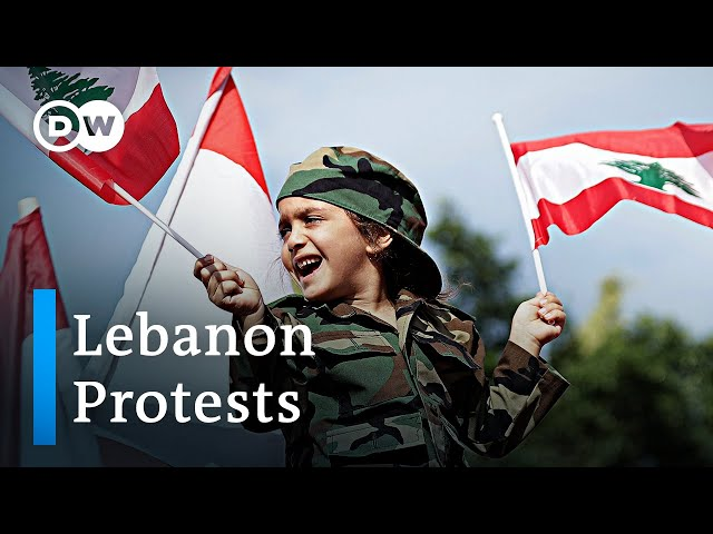 Lebanon's capital split by rival protest marches | DW News