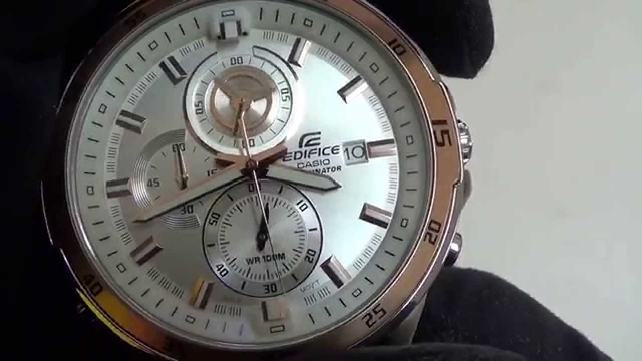 Casio Edifice Efr 547l 7avuef Youtube Ef 1av