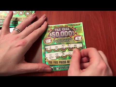 New $2 Tax Free $50,000 Michigan Lottery - 1/4/18
