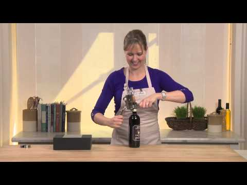 How to Open Wine with the Le Creuset Geo Leverpull Wine Opener | Williams-Sonoma