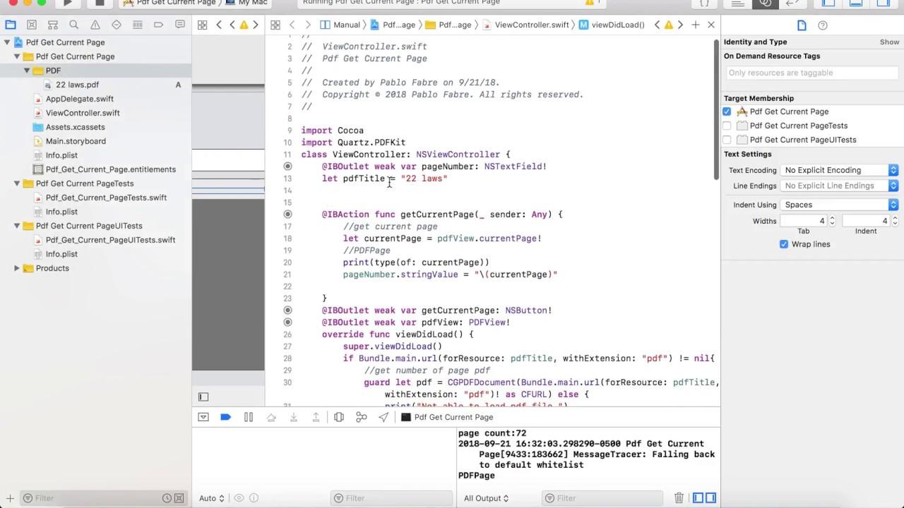 Tutorial PDFView PDFKit