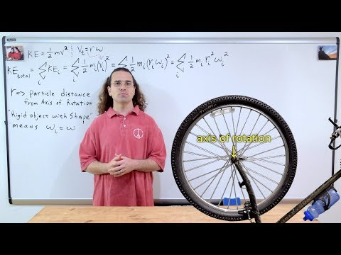 Moment of Inertia Introduction and Rotational Kinetic Energy Derivation