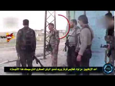 18+ Graphic Syria _ Hama _ Free Army placed an ambush of the Syrian army ,see what happened