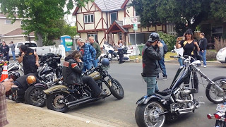 Celebrity Bikers arriving at Ride For Ronnie 2017