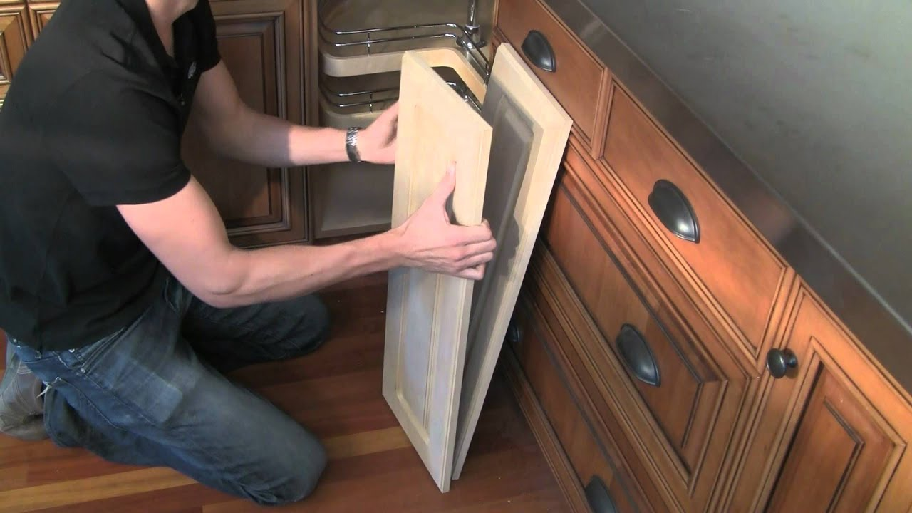 How to measure for lazy susan cabinet doors - YouTube