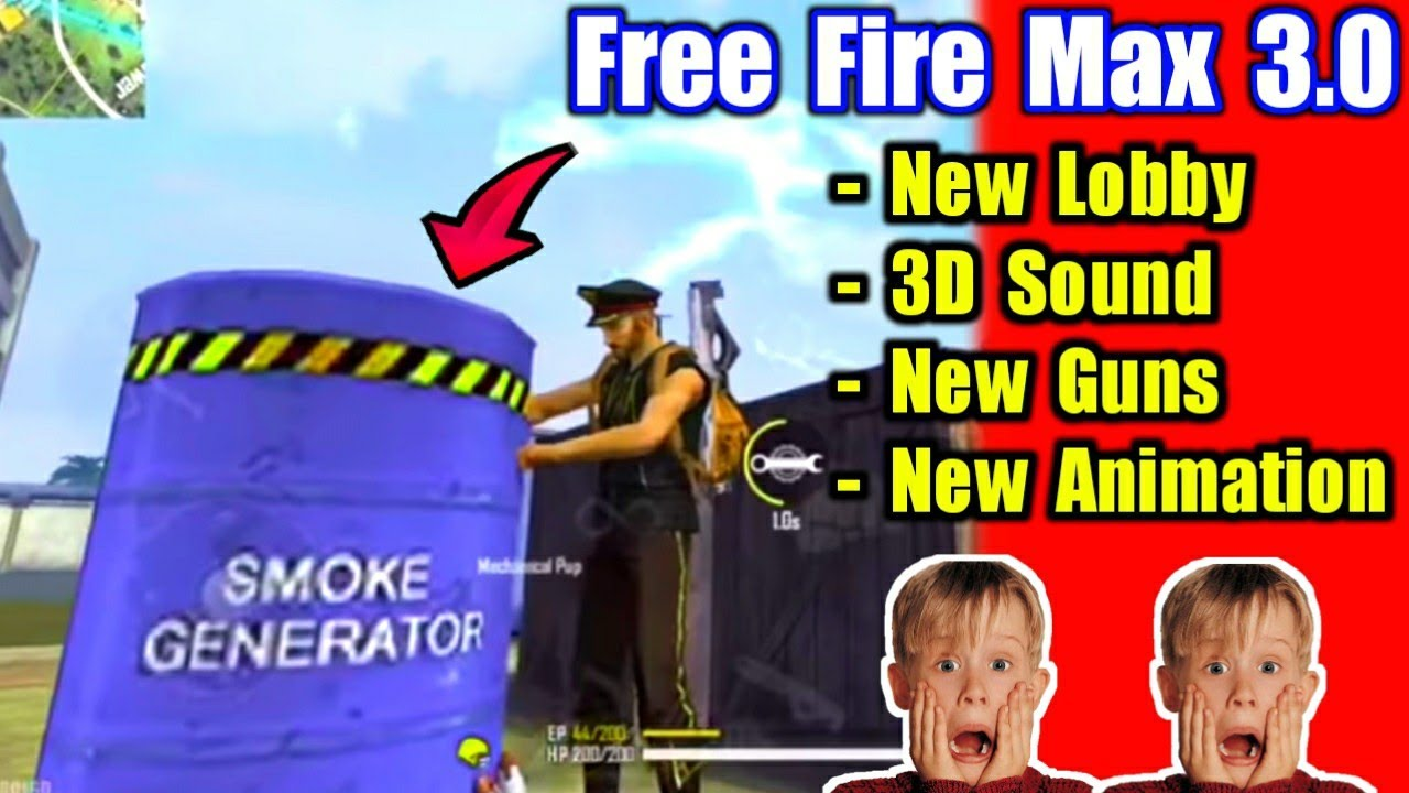 Free Fire Max 3.0 Full Gameplay😍🔥मस्त है नई Animation !!