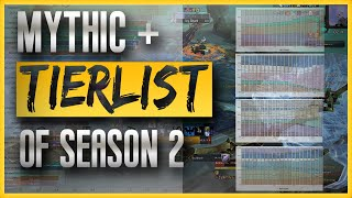 Mythic+ Tier List: The Most Popular Specs Played in Low & High Keys in Season 2