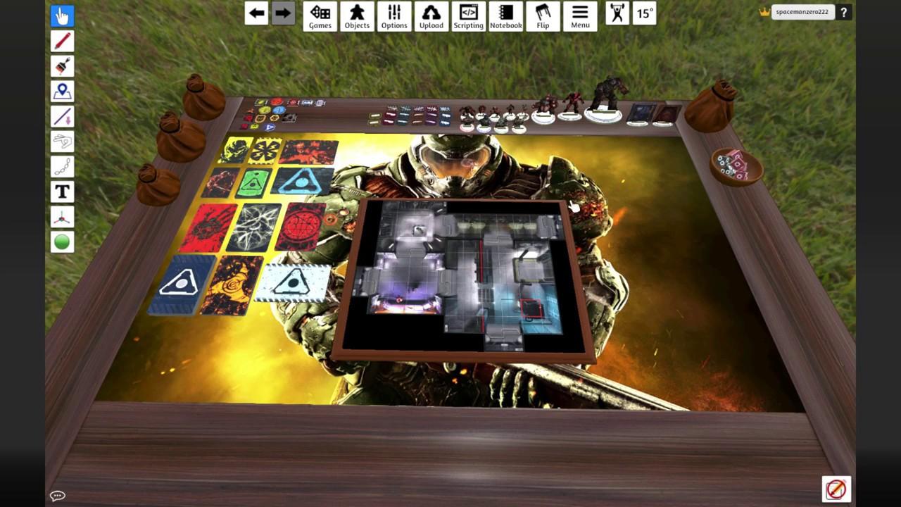 doom the board game 2016 tabletop simulator mod youtube