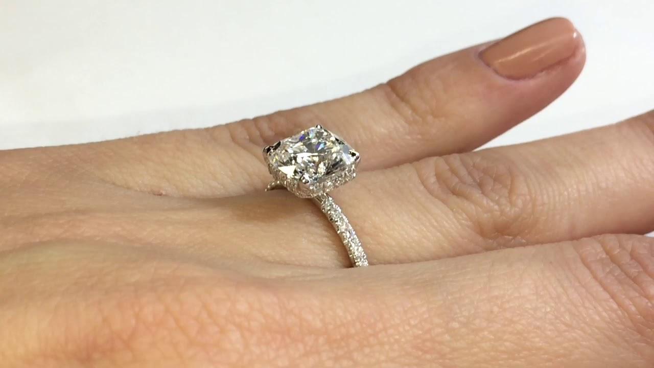 2 carat Radiant Cut Diamond Signature Wrap Ring
