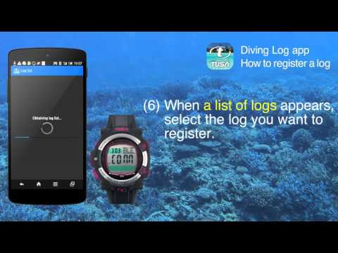 TUSA Diving LOG App - How to Upload Log from IQ1204