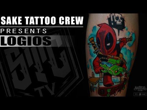"SakeTattooCrew presents: ""Tattoo Timelapse With Logios"" (DEADPOOL  EDITION)ᴴᴰ"