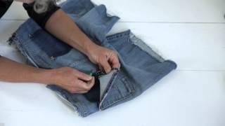 Zelfmaak - Jeans tas
