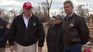 President Trump Receives a Tour of the Tennessee Tornado Damage