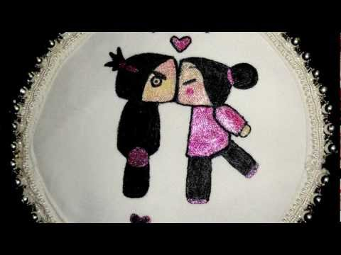 Pucca Garu Fabric Painting HD