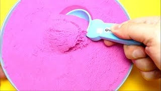 Very Satisfying Kinetic Sand Cutting