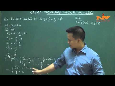 CỰC TRỊ HÀM HAI BIẾN-Luyện thi cao học mỏ địa chất-thầy Nguyễn Đức Thảo