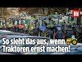 Traktoren legen Hamburg lahm