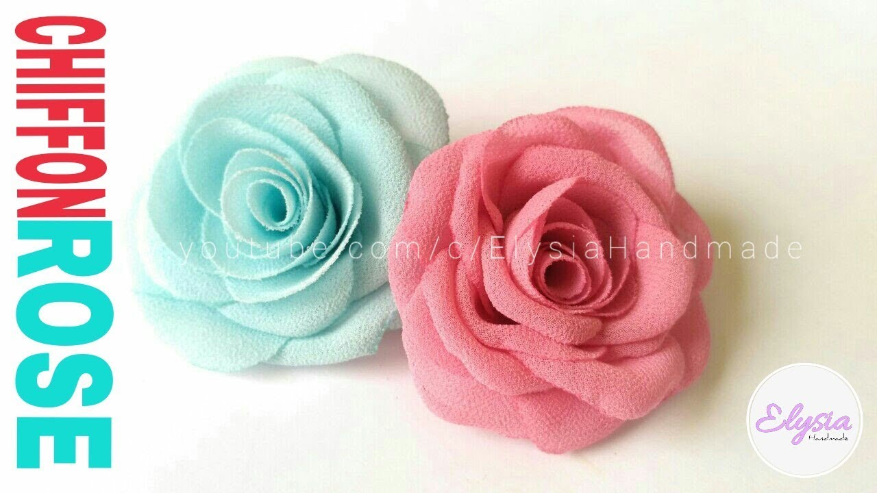 How To Make Fabric Flowers Blooming Rose Another Version Diy By Elysia Handmade Youtube Making Fabric Flowers Fabric Flowers Diy Fabric Flowers
