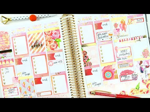 Plan with Me! Bright Summer Birthday ft. Planning World