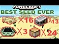 MCPE 1.1.4 - 24 VILLAGES, 3 STRONGHOLDS, 16 TEMPLES in 1 SEED | MINECRAFT PE BEST SEED