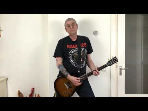 Ramones - Glad To See You Go(cover with backing track for guitar)
