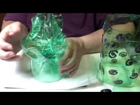Como hacer una lampara con botellas de plastico recicladas - Como hacer lamparas ...