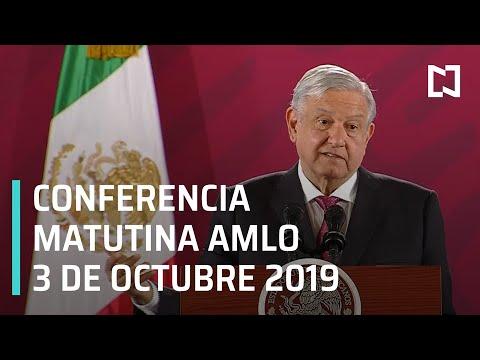 Conferencia matutina AMLO - Jueves 3 de octubre 2019