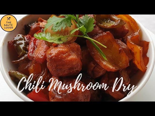 Chili Mushroom   Indo - Chinese recipe  