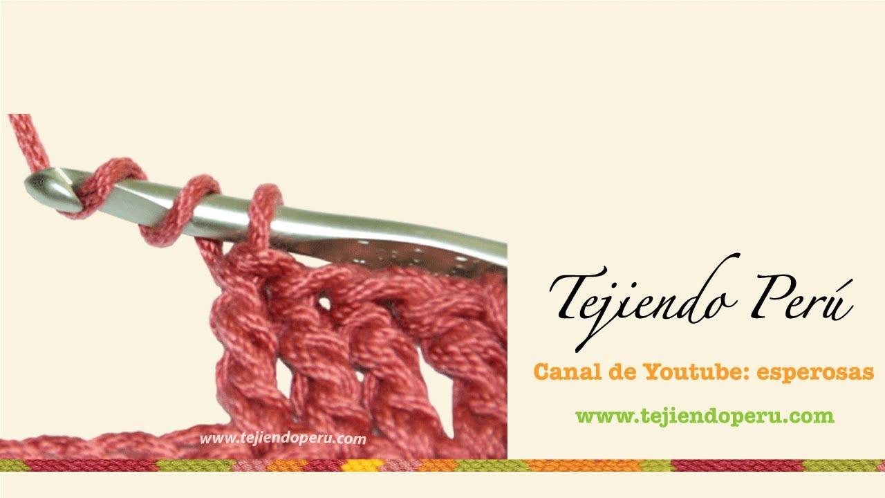 Crochet: punto alto doble o doble vareta - YouTube