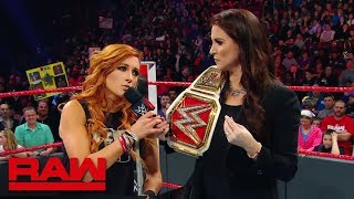 Ronda Rousey crashes Becky Lynch's Hold Harmless Agreement signing: Raw, March 4, 2019