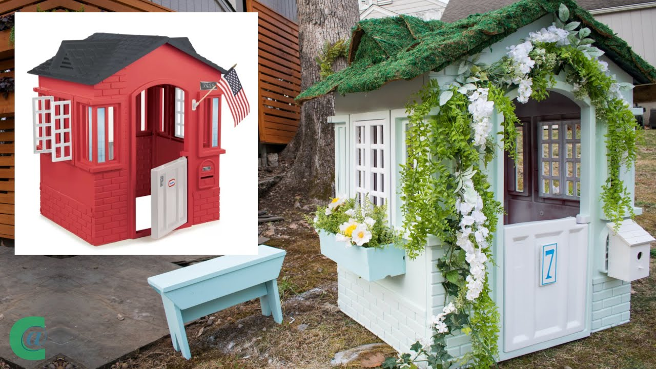 Little Tikes Playhouse English Cottage Makeover Youtube