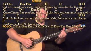 Freebird - Fingerstyle Guitar Cover Lesson with Chords/Lyrics