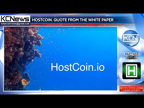 Quote from the HostCoin White Paper
