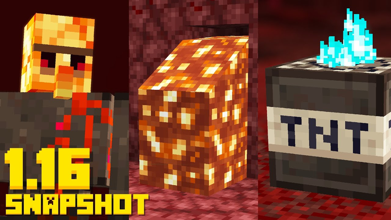 15 ways How to use NETHERITE in Minecraft 1.16 Nether Snapshot thumbnail