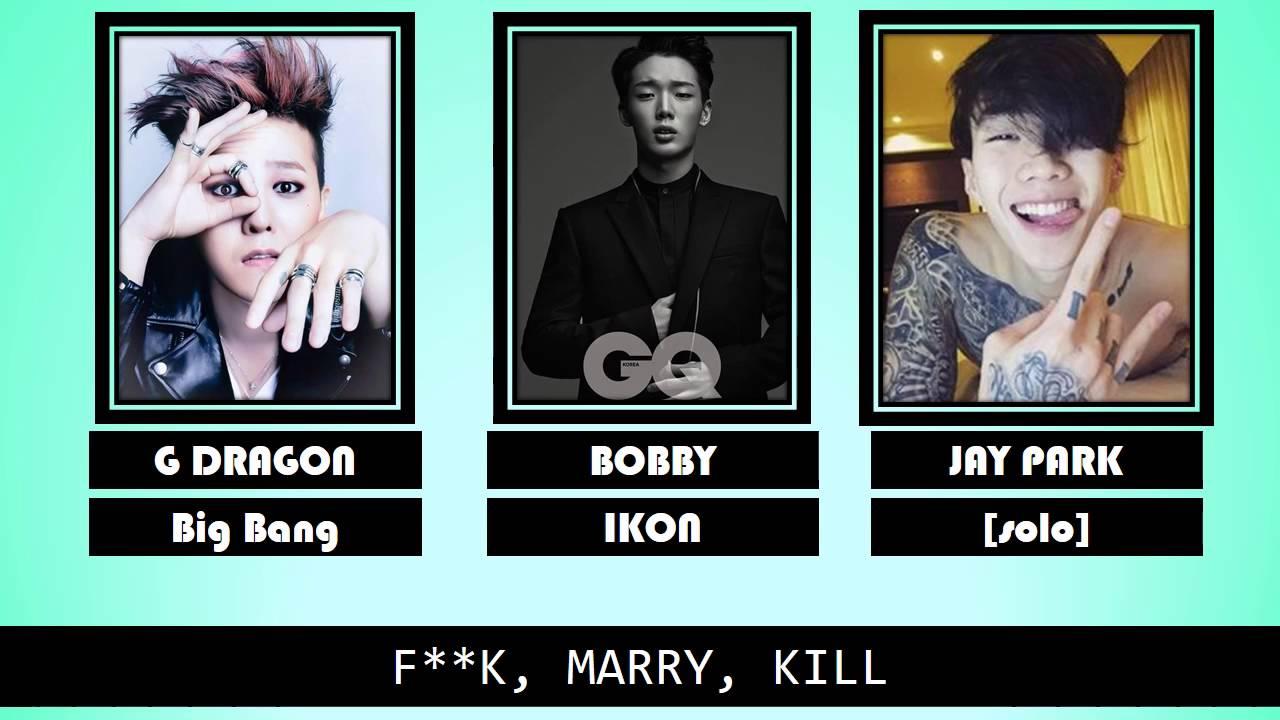 f  k  marry  kill  kpop game
