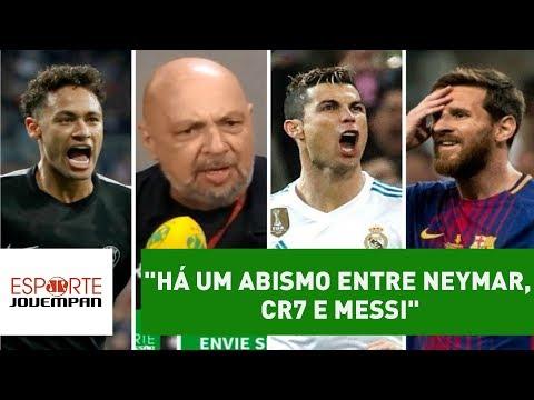 """""""Há um ABISMO entre Neymar, CR7 e Messi"""", dispara narrador"""
