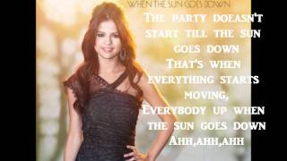 Selena Gomez When the Sun goes down with Lycris and Download Link Mp3