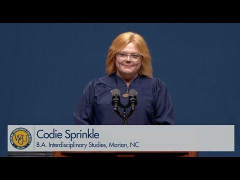 WGU 2019 Salt Lake City Bachelor's Commencement - Graduate Speaker Codie  Sprinkle