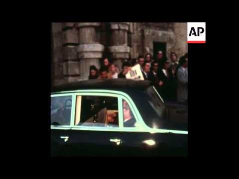 SYND 4-1-72 DEMONSTRATIONS TAKE PLACE AS PRIME MINISTER MINTOFF ARRIVES AT PARLIAMENT
