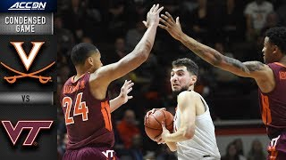 Virginia vs. Virginia Tech Condensed Game | 2018-19 ACC Basketball